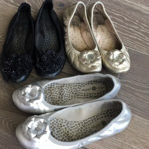 Lindsay Phillips Ballet Flats 3 pairs size 6.5